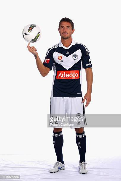 Harry Kewell poses during a Melbourne Victory ALeague portrait session at AAMI Park on September 14 2011 in Melbourne Australia Kewell has signed a...