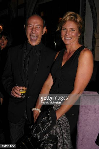 Harry King and Kim Alexis attend NANCY C DONAHUE and HARRY KING Host 70s and 80s Fashion Reunion Party at The Gates on September 22 2009 in New York...