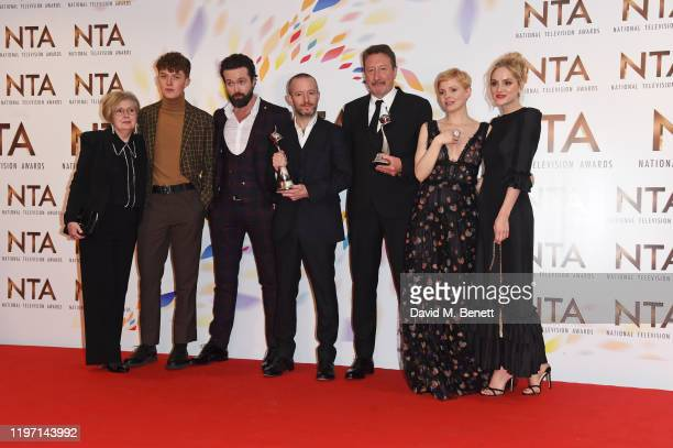 Harry Kirton Emmett J Scanlan Anthony Byrne Steven Knight Kate Phillips and Sophie Rundle accepting the Drama Performance award on behalf of Cillian...