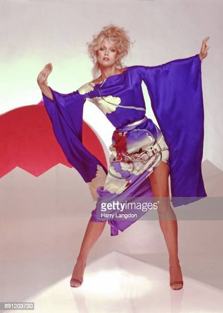 Harry Langdon Fashions Model Donna Mills Ellene Warren Desgins in 1983 in Los Angeles California