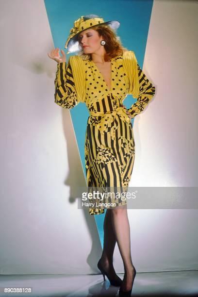 Harry Langdon Fashions Model Tracy Bregman Ellene Warren Desgins in 1980 in Los Angeles California