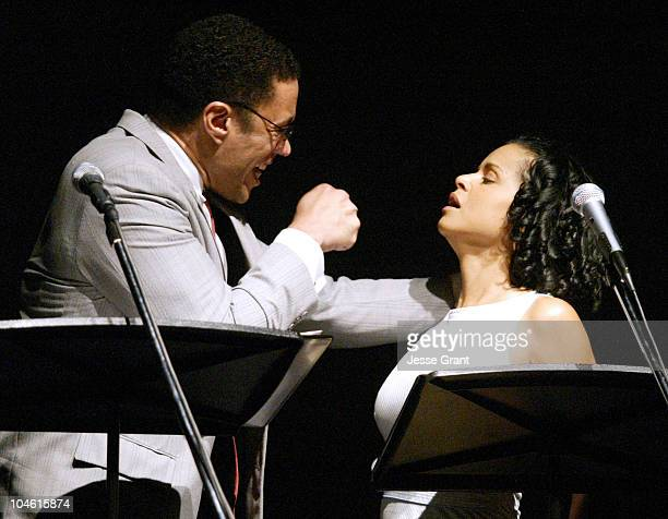 Harry Lennix and Victoria Rowell during Discovered Voices - An Evening of Readings From Scenes of New Plays at The Skirball Cultural Center and...