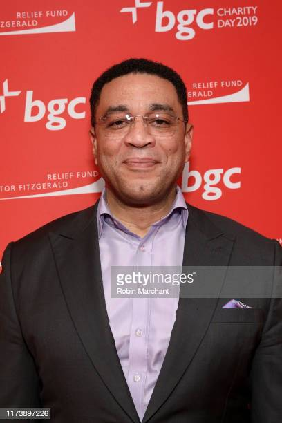 Harry Lennix attends Annual Charity Day Hosted By Cantor Fitzgerald, BGC and GFI - BGC Office - Arrivals on September 11, 2019 in New York City.