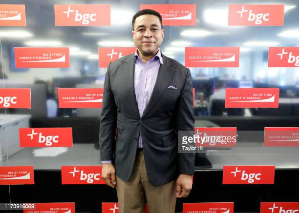 Harry Lennix attends Annual Charity Day Hosted By Cantor Fitzgerald, BGC and GFI - BGC Office – Inside on September 11, 2019 in New York City.