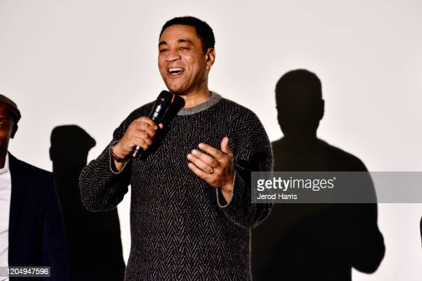 Harry Lennix participates in a Q&A session following the Premiere screening of Harry Lennix's H4, a re-imagined telling of Shakespeare's Henry IV...