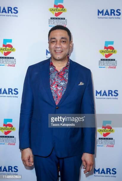 Harry Lennix walks the blue carpet for the filmmaker awards ceremony at the 5th Annual Bentonville Film Festival on May 11, 2019 in Bentonville,...