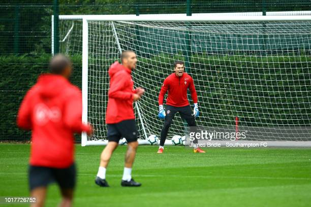 Harry lewis during a Southampton FC training session at Staplewood Complex on August 16 2018 in Southampton England