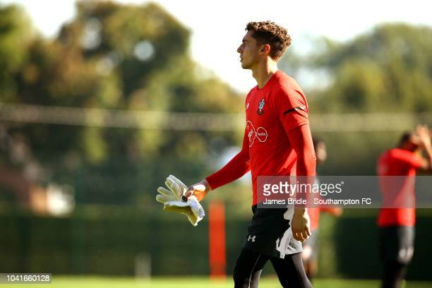 Harry Lewis during a Southampton FC training session at Staplewood Complex on September 27 2018 in Southampton England