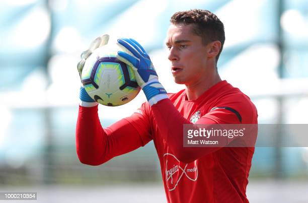 Harry Lewis during a Southampton FC training session at the Staplewood Campus on July 16 2018 in Southampton England
