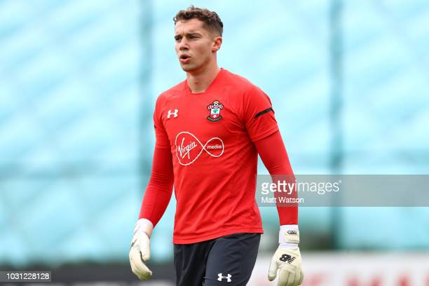 Harry Lewis during a Southampton FC training session at the Staplewood Campus on September 11 2018 in Southampton England