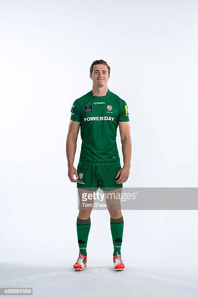 Harry LightfootBrown of London Irish poses for a picture during the BT PhotoShoot at Sunbury Training Ground on August 27 2014 in Sunbury England