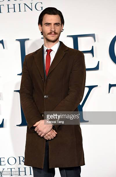 Harry Lloyd attends the UK Premiere of The Theory Of Everything at Odeon Leicester Square on December 9 2014 in London England