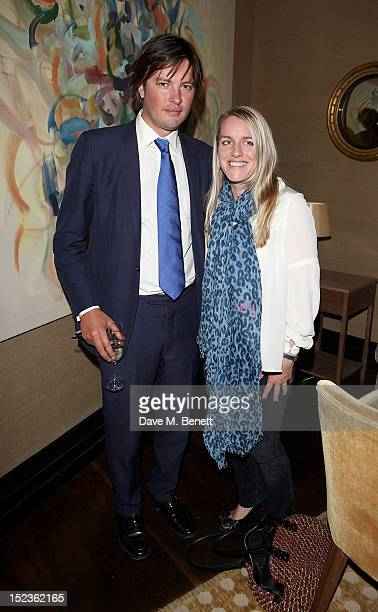 Harry Lopes and Laura Lopes attend a cocktail party hosted by new EditorinChief of Harper's Bazaar UK Justine Picardie Manolo Blahnik and Penelope...