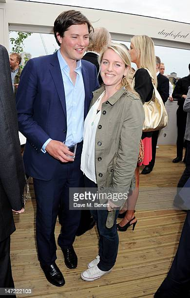 Harry Lopes and Laura Lopes attend as Tom Parker Bowles launches his new cookbook 'Let's Eat Recipes From My Kitchen Notebook' at the Daylesford Cafe...