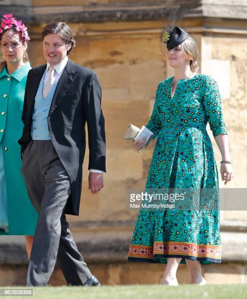 Harry Lopes and Laura Lopes attend the wedding of Prince Harry to Ms Meghan Markle at St George's Chapel Windsor Castle on May 19 2018 in Windsor...