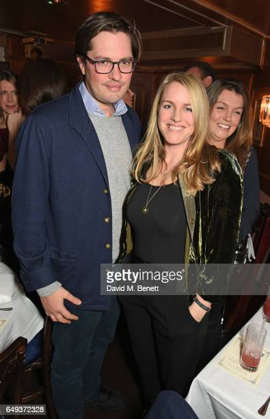 Harry Lopes and Laura Parker Bowles attend the Lady Garden VIP pub quiz in support of the Gynaecological Cancer Fund at Albert's Club on March 7 2017...