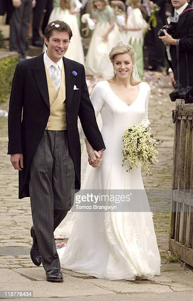 Harry Lopes and Laura Parker Bowles during Laura Parker Bowles and Harry Lopes – Wedding at St Cyriac's Church in Lacock Great Britain