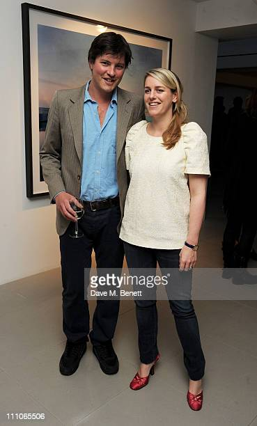 Harry Lopes and wife Laura Lopes attend a private viewing of artist Harry Cory Wright's new photography exhibition 'Place in Mind' at 3 Olaf Street...