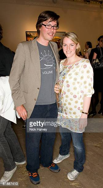 Harry Lopes and wife Laura Parker Bowles attend The Quintessentially Summer Arts Party at Phillips de Pury Company on July 9 2008 in London England