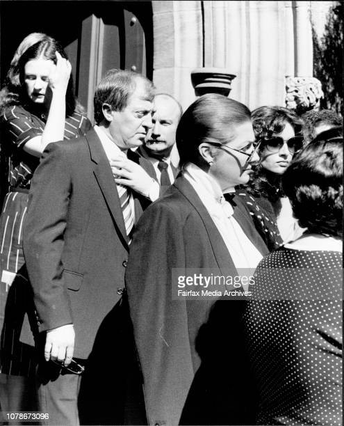 Harry M Miller and Marcia Hines among the mournersMourners at the Funeral of Margaret Allan former secretary to Harry M Miller held at the Christ...