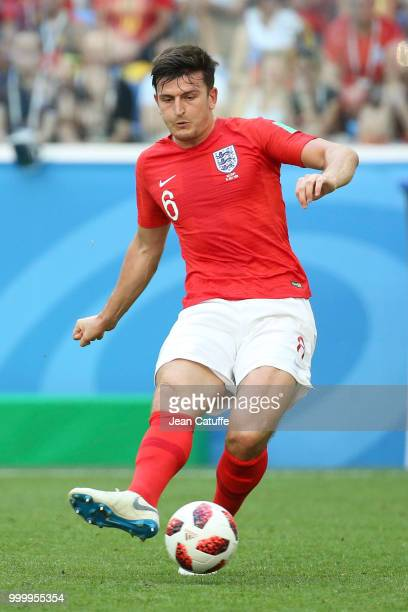 Harry Maguire of England during the 2018 FIFA World Cup Russia 3rd Place Playoff match between Belgium and England at Saint Petersburg Stadium on...