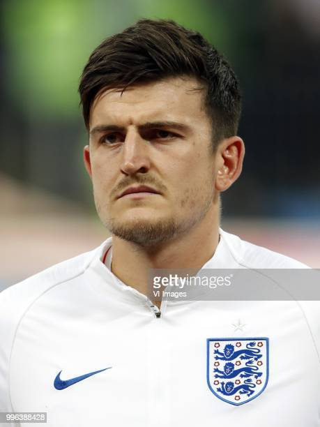 Harry Maguire of England during the 2018 FIFA World Cup Russia Semi Final match between Croatia and England at the Luzhniki Stadium on July 01 2018...