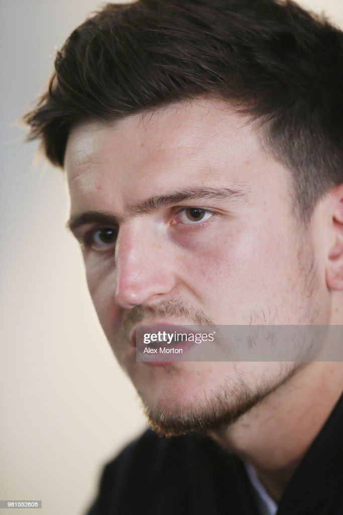 Harry Maguire of England during the England Media Access on June 22, 2018 in Saint Petersburg, Russia.