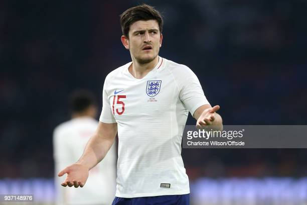 Harry Maguire of England during the International Friendly match between Netherland and England at Amsterdam Arena on March 23 2018 in Amsterdam...
