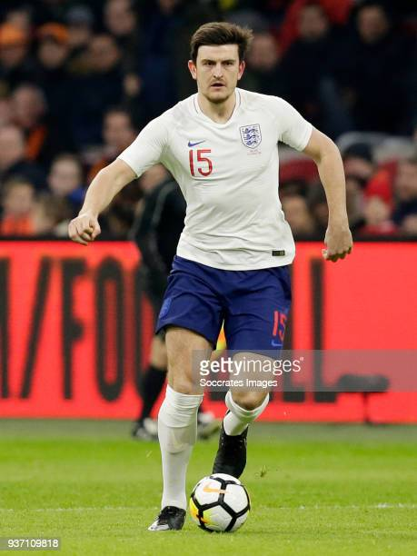 Harry Maguire of England during the International Friendly match between Holland v England at the Johan Cruijff Arena on March 23 2018 in Amsterdam...