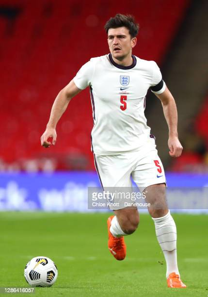 Harry Maguire of England during the UEFA Nations League group stage match between England and Iceland at Wembley Stadium on November 18, 2020 in...