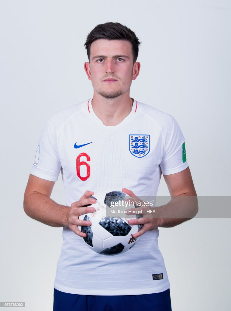 Harry Maguire of England poses for a portrait during the official FIFA World Cup 2018 portrait session at on June 13, 2018 in Saint Petersburg, Russia.