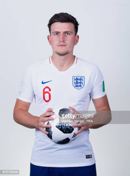 Harry Maguire of England poses for a portrait during the official FIFA World Cup 2018 portrait session at on June 13 2018 in Saint Petersburg Russia