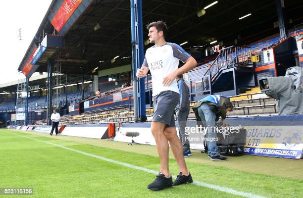 Harry Maguire of Leicester City at Kenilworth Road ahead of the pre season friendly between Luton Town and Leicester City on July 26th 2017 in Luton...
