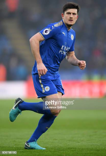 Harry Maguire of Leicester City runs off the ball during the Premier League match between Leicester City and AFC Bournemouth at The King Power...