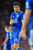 manchester england harry maguire leicester gestures
