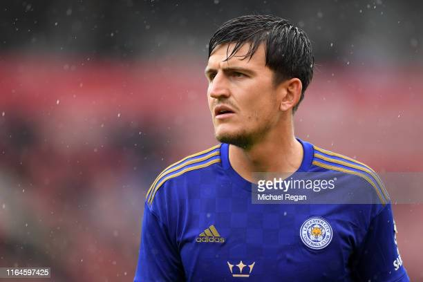 Harry Maguire of Leicester looks on during the PreSeason Friendly match between Stoke City and Leicester City at the Bet365 Stadium on July 27 2019...
