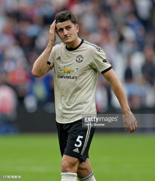 Harry Maguire of Manchester United after the Premier League match between West Ham United and Manchester United at London Stadium on September 21...