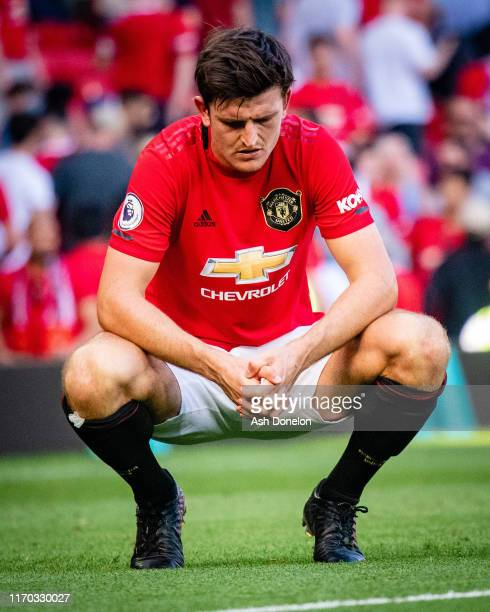 Harry Maguire of Manchester United in action during the Premier League match between Manchester United and Crystal Palace at Old Trafford on August...