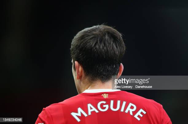 Harry Maguire of Manchester United looks on during the Premier League match between Manchester United and Liverpool at Old Trafford on October 24,...