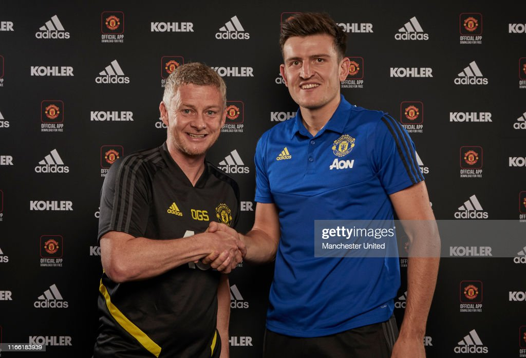 Manchester United Unveil New Signing Harry Maguire : ニュース写真