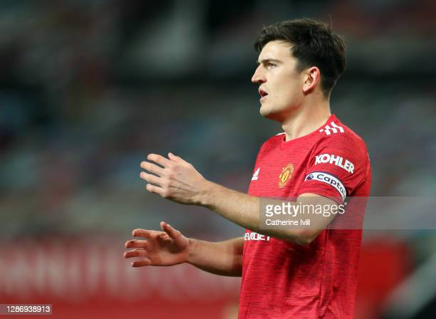 Harry Maguire of Manchester Unitedduring the Premier League match between Manchester United and West Bromwich Albion at Old Trafford on November 21...