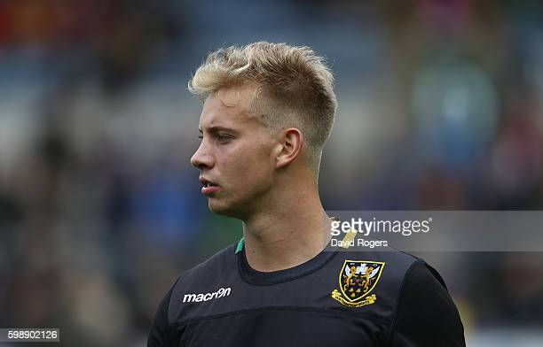 Harry Mallinder of Northampton looks on during the Aviva Premiership match between Northampton Saints and Bath at Franklin's Gardens on September 3...