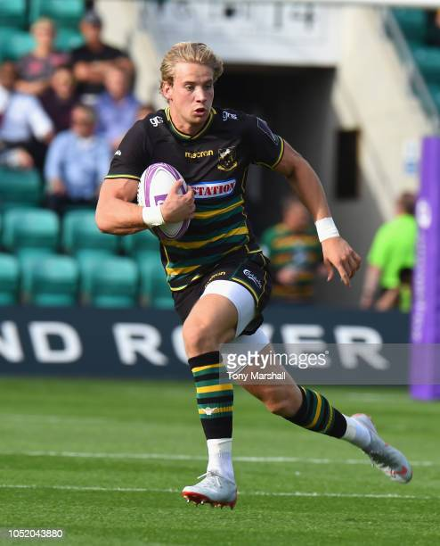 Harry Mallinder of Northampton Saints during the Challenge Cup match between Northampton Saints and Clermont Auvergne at Franklin's Gardens on...