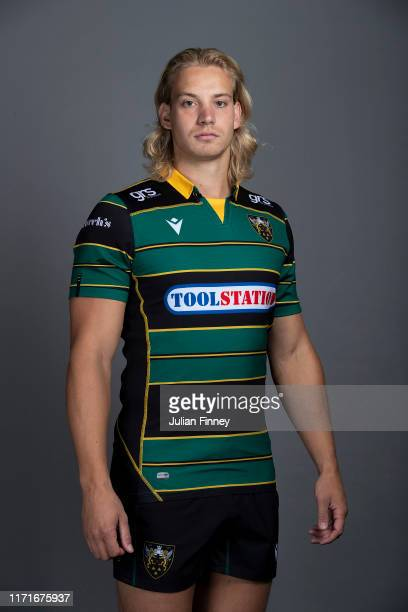 Harry Mallinder of Northampton Saints poses for a portrait during the Northampton Saints squad photocall for the 20192020 Gallagher Premiership Rugby...
