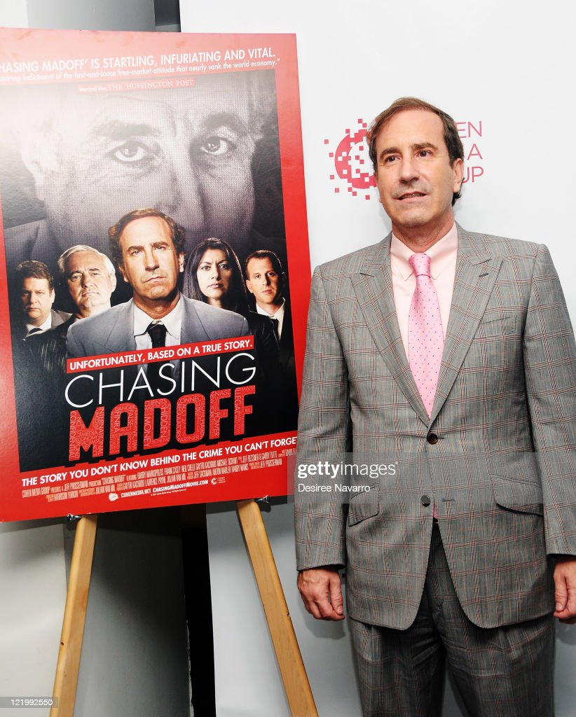 Harry Markopolos Attends The Chasing Madoff New York Screening At The Academy Theater At