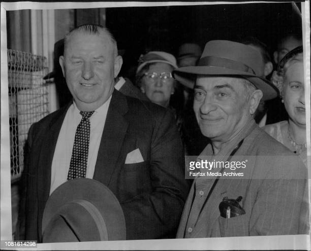Harry Martin and Mr Makin who also shared in the Jackpot today May 06 1958
