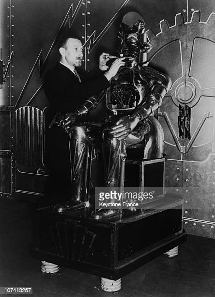 Harry May And His Alpha Robot In 1935