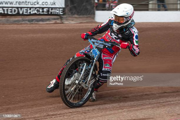 Harry McGurk of Belle Vue Colts in action during The Belle Vue Speedway Media Day, at The National Speedway Stadium, Manchester, on Thursday 12 March...
