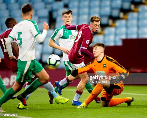 Harry McKirdy of Aston Villa during the Premier League Cup match between Aston Villa and Plymouth Argyle at Villa Park on November 30 2018 in...