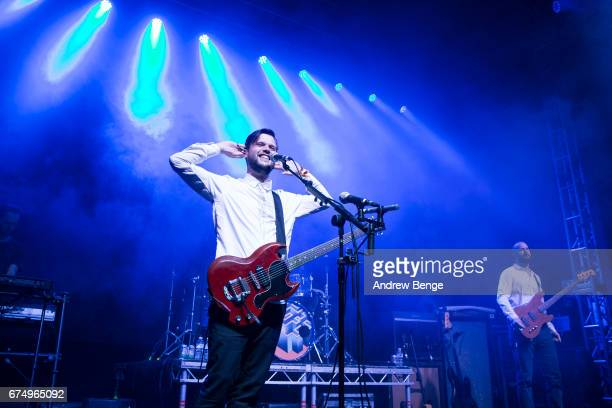 Harry McVeigh of White Lies performs at Brudenell Social Club during Live At Leeds on April 29 2017 in Leeds England Live at Leeds is a music...